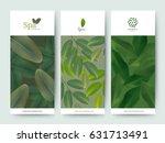 branding package flower nature... | Shutterstock .eps vector #631713491