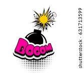 lettering bomb  boom explosion. ...   Shutterstock .eps vector #631713599
