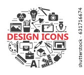 graphic design icons  vector... | Shutterstock .eps vector #631716674