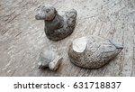 duck statue  broken | Shutterstock . vector #631718837