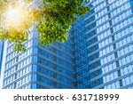 modern office building with... | Shutterstock . vector #631718999