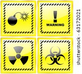warning sign collection. vector ... | Shutterstock .eps vector #63172021