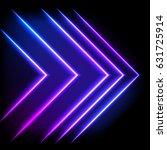 colorful neon arrow background  ...   Shutterstock . vector #631725914