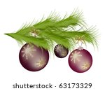branch of the christmas tree...   Shutterstock .eps vector #63173329