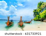 longtale boat on the white... | Shutterstock . vector #631733921