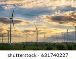 wind turbine producing... | Shutterstock . vector #631740227