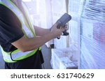 warehouse worker man handling... | Shutterstock . vector #631740629