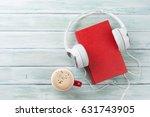 Audio Book Concept. Headphones...