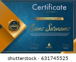 certificate template luxury and ... | Shutterstock .eps vector #631745525