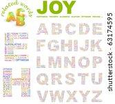 joy. vector letter collection.... | Shutterstock .eps vector #63174595