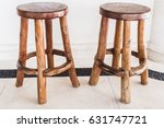 vintage handmade wooden bar... | Shutterstock . vector #631747721