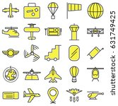 Yellow Aviation Vector Icon...