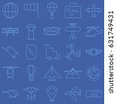 aviation vector icon set | Shutterstock .eps vector #631749431