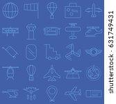 aviation vector icon set | Shutterstock .eps vector #631749431