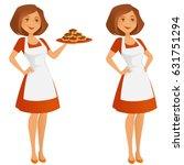 confident baker | Shutterstock .eps vector #631751294