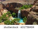 havasu falls oasis in the... | Shutterstock . vector #631758404