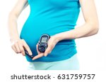 pregnant woman holding glucose... | Shutterstock . vector #631759757