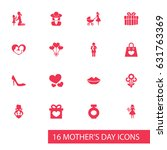 mothers day icon design concept.... | Shutterstock .eps vector #631763369