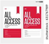 all access pass template | Shutterstock .eps vector #631767989