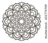 mandala. ethnic decorative... | Shutterstock .eps vector #631774709