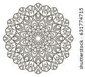 mandala. ethnic decorative... | Shutterstock .eps vector #631774715