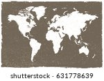 grunge map of the world.vintage ... | Shutterstock .eps vector #631778639