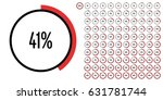 set of circle percentage... | Shutterstock .eps vector #631781744