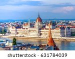 a landscape view of budapest... | Shutterstock . vector #631784039