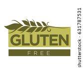gluten free substance in cereal ... | Shutterstock .eps vector #631787531