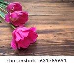 pink tulips  floral arrangement ... | Shutterstock . vector #631789691