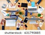interacting as team for better... | Shutterstock . vector #631790885