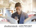 laughing dark skinned male in... | Shutterstock . vector #631795187