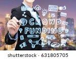 asian business woman is writing ...   Shutterstock . vector #631805705