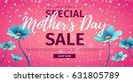 template design discount banner ... | Shutterstock .eps vector #631805789
