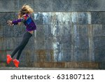 beautiful young girl in bright... | Shutterstock . vector #631807121