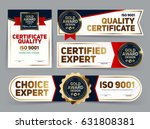 set of vector mini certificate... | Shutterstock .eps vector #631808381