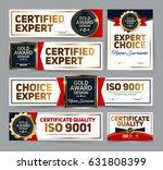 set of vector mini certificate... | Shutterstock .eps vector #631808399