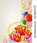 christmas template with... | Shutterstock .eps vector #63181072