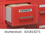 patent files and documents in... | Shutterstock . vector #631813271