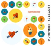 simple flat icons collection... | Shutterstock .eps vector #631813355