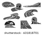 road tunnel isolated icon set.... | Shutterstock .eps vector #631818701