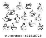 cup of hot drink icon set.... | Shutterstock .eps vector #631818725