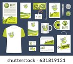 corporate identity template of... | Shutterstock .eps vector #631819121