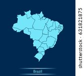 map of brazil | Shutterstock .eps vector #631821875