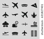 airplane icons set. set of 16... | Shutterstock .eps vector #631827401