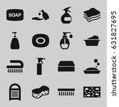 soap icons set. set of 16 soap... | Shutterstock .eps vector #631827695