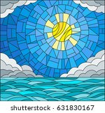 illustration in stained glass... | Shutterstock .eps vector #631830167