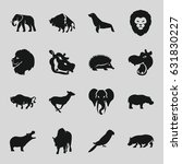 zoo icons set. set of 16 zoo... | Shutterstock .eps vector #631830227