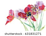 watercolor pattern on a white... | Shutterstock . vector #631831271