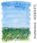watercolor background with a... | Shutterstock . vector #631831571